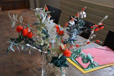 Bouquet tissus et laines recyclées