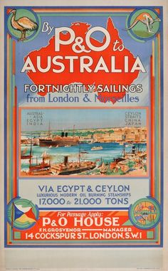 PO-Australia via Egypt Ceylon