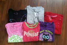 Girls long-sleeved shirts.  Size 7/8.  $6 for all. Diaper Bag, Long Sleeve Shirts, Garage, Girls, Bags, Fashion, Carport Garage, Toddler Girls, Handbags