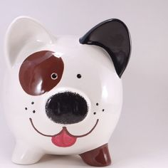 Brown Dog Piggy Bank Personalized Puppy Dog Bank by ThePigPen