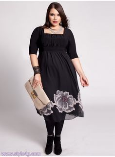 "Plus Size Casual Dresses-for women-Impressive dresses-2013 ...(NOTE - This is one of those frustrating ""pins to nowhere"" dammit. I really like this dress!"