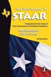 STAAR Mathematics flash cards for grade 3 Includes new updated Math Standards!