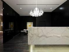 the front desk of concierge services private lounge - Concierge Desk Design