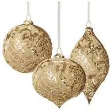 Image result for gold christmas ornaments