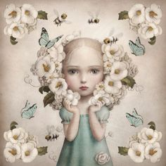 Inflorescence Silk Scarf and Limited Edition Print by Nicoletta Ceccoli / MAE Gallery Editions