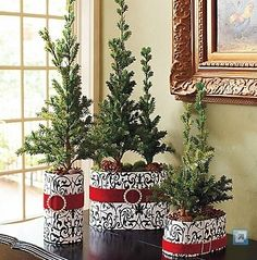 Frontgate Christmas Potted Pine Trees,  Holiday Ideas