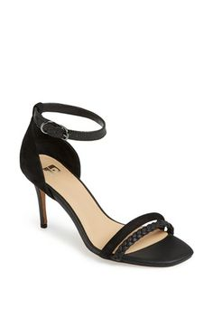 black double toe strap and ankle strap heeled sandal {40% now during Nordstrom's Half Yearly Sale!!}
