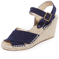 Soludos Crisscross Wedge Espadrilles ($129) ❤ liked on Polyvore featuring shoes, sandals, high heel sandals, criss-cross sandals, wedge shoes, leather sandals and leather platform sandals