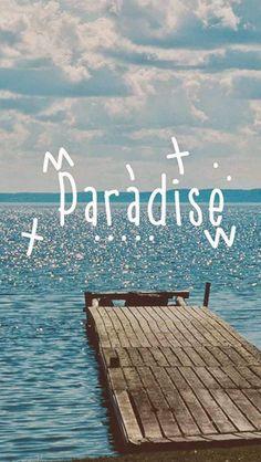 Paradise Beach Dock Landscape #iPhone #5s #wallpaper