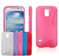 S line Skin Soft TPU Gel Case Cover For Samsung Galaxy S5 SV I9600