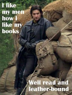 Richard Armitage: well-read and leather-bound