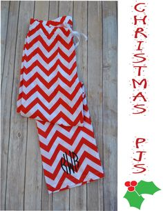 Chevron Monogrammed Pajama Pants-Red by MaxJBoutique on Etsy https://www.etsy.com/listing/207806135/chevron-monogrammed-pajama-pants-red