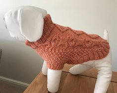 Cable Knit Aran Dog Sweater