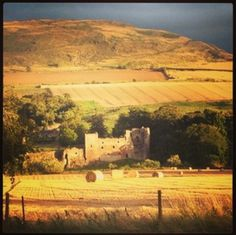Hailes Castle nr Haddington, East Lothian. A beautifully sited ruin incorporating a 13th century manor.  Mary, Queen of Scots stayed her before her third marriage.