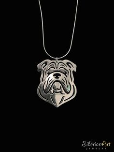 English Bulldog jewelry  sterling silver by SiberianArtJewelry, $99.00