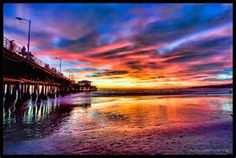 #Santa_Monica #Pier #Sunset #Art