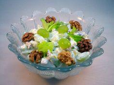 Gammeldags waldorfsalat med fløde – opskrift