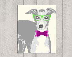 Italian Greyhound Art Print Modern Dog Art  by HappyTailPrints, $15.00