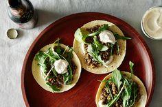 Mushroom Lentil Tacos with Tahini Yogurt Sauce Recipe: https://food52.com/blog/10987-mushroom-lentil-tacos-with-tahini-yogurt-sauce #Food52