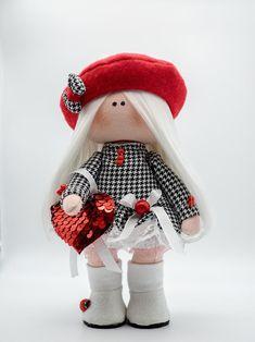 DesignPuppe, StoffPuppe, Handgemachte Art & Deko, Geburtstag, Hochzeit, Muttertag, Jubileum Winter Hats, Etsy, Gift, Design, Fashion, Mother's Day, Craft Gifts, Puppets, Wedding
