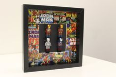 Framed Ironman Lego Minifigures Marvel by ConsoleChameleon on Etsy