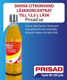 Classic läsk Dansk Citronvand koncentrat för att smaksätta kolsyrat vatten och göra läsk.