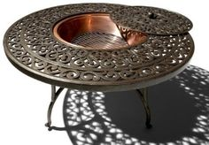 $300 fire pit---Amazon.com: Strathwood St. Thomas Cast-Aluminum Fire Pit with Table: Patio, Lawn & Garden