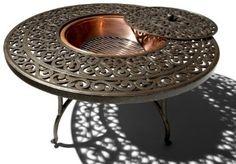 $300 fire pit---Amazon.com: Strathwood St. Thomas Cast-Aluminum Fire Pit with Table: Patio, Lawn & Garden