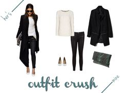 black and white outfit crush