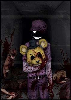 Purple Guy (Vincent) after he killed the 5 children....
