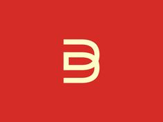 D b monogram logo design symbol by alex tass