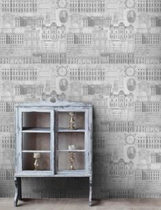 Mind The Gap Wallpaper Collection - Louvre | Rose & Grey