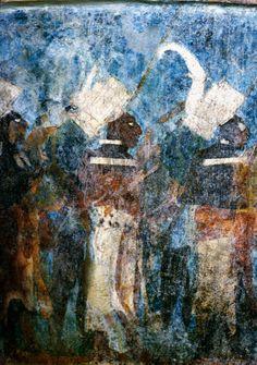 Detail of Fresco Painting at Temple of the Murals, Bonampak