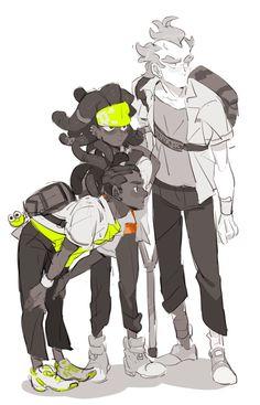 Junkrat Fanart, Junkrat And Roadhog, Character Art, Character Design, Overwatch Fan Art, Black Characters, Drawing Reference, Game Art, New Art