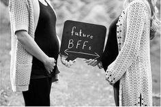 Friend Pregnancy Photos, Sister Maternity Pictures, Baby Bump Pictures, Baby Photos, Maternity Photos, Cute Pregnancy Pictures, Friends Pregnant Together, Pregnant Best Friends, Best Friend Photography