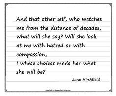 Quotable - Jane Hirshfield