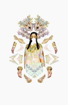 s/s '13 fashion collages by Anjela Freyja, via Behance