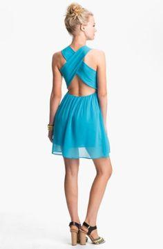 Dee Elle Cross Back Skater Dress (Juniors) $50.0 by nordstrom