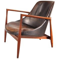Elizabeth Chair by Ib-Kofod Larsen for Christensen and Larsen, Denmark, 1956 | See more antique and modern Lounge Chairs at https://www.1stdibs.com/furniture/seating/lounge-chairs