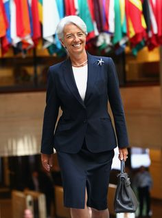 Christine Lagarde Photos - Christine Lagarde Takes Over As Managing Director Of IMF - Zimbio Lagarde Christine, First Day Of Work, Carla Bruni, Power Dressing, New Chic, Over 50 Womens Fashion, Glamour, Professional Outfits, Fashion Line