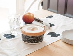 OMG and cute as can be: A DIY Apple Stamp Runner is a perfect way to welcome Fall into your home!