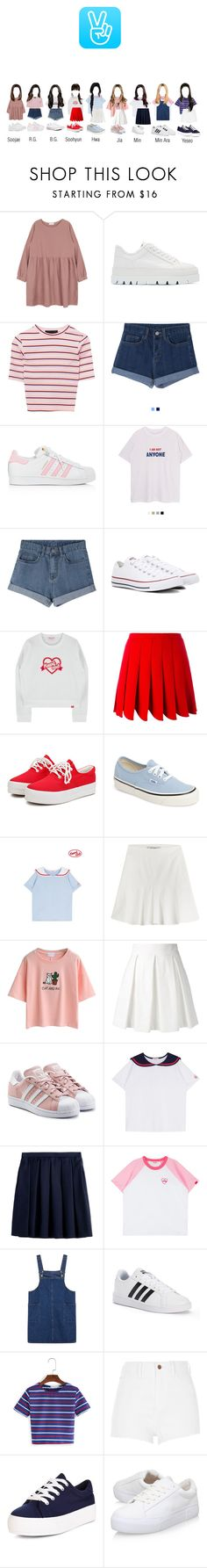 """Rexanne x namsan tower's v-app"" by rexanne-official ❤ liked on Polyvore featuring MM6 Maison Margiela, adidas, Converse, Miu Miu, Vans, Etro, WithChic, Boutique Moschino, adidas Originals and Burberry"