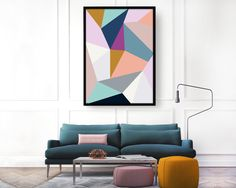 ABSTRACT GEOMETRIC: Part of a two piece, abstract collection focusing on geometric form combined with an eclectic colour pallet.