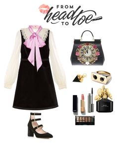 Untitled #24 by palak-obhan on Polyvore featuring polyvore, fashion, style, Gucci, Kate Spade, Dolce&Gabbana, Eye Candy, Chanel, MAC Cosmetics, Marc Jacobs, Boohoo and clothing