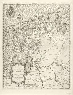 Kaart van Friesland, Groningen, Drenthe en Overijssel, Jacob Bos, Jacob van Deventer, Michele Tramezzino, 1558