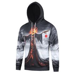 Mens Halloween Funny Hoodies 3D Pumpkin Printed Casual Hooded Sweatshirts  Hoodie Outfit c1e75f24abf9
