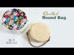 DIY Round Bag / Quilted Circle Bag / Tambourine Bag / Crossbody Bag - YouTube Zipper Bags, Zipper Pouch, Round Canvas, Tambourine, Round Bag, Diy Round Coin Purse, Quilted Bag, Easy Sewing Projects, Purses And Bags