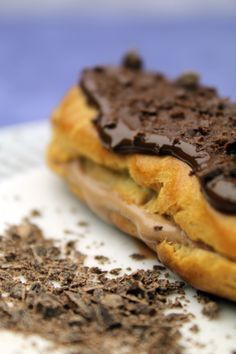 Donkey and the Carrot: ECLAIR AU CHOCOLAT WITH 3 DIFFERENT FILLINGS! ΕΚΛΕΡ ΜΕ ΣΟΚΟΛΑΤΑ, ΣΑΝΤΙΓΥ ΝΟΥΤΕΛΑ ΚΑΙ ΚΡΕΜΑ!