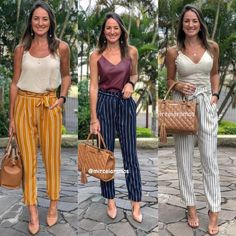 Ropa Semi Formal, Summer Pants Outfits, Outfit Look, Instagram Outfits, Work Attire, Office Attire, Office Looks, Office Fashion, Look Fashion