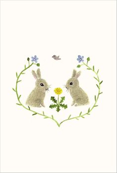 Rabbits Emblem bunny Japanese illustration postcard by Mayumi Maeda. #rabbitsemblem #mayumimaeda #bunny #postcard #illustration #japanese #japan #japaneseillustration #japaneseart #bunnypostcard #bunnyillustration #kawaiiillustration #cute #kawaii #bunnies #rabbit #rabbits #cutebunny #cutebunnies #うさぎ #前田まゆみ #イラスト #ポストカード #かわいい